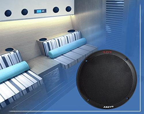 6.5 Inch Dual Speakers 2 Way Waterproof Weather Resistant Outdoor System with Butyl Rubber Surround 1