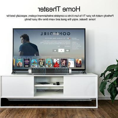 Powerful 3D Sound Bar System Bluetooth Speaker Home TF AUX