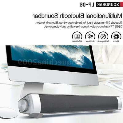 Powerful 3D Surround Bar Bluetooth TV Speaker Home AUX