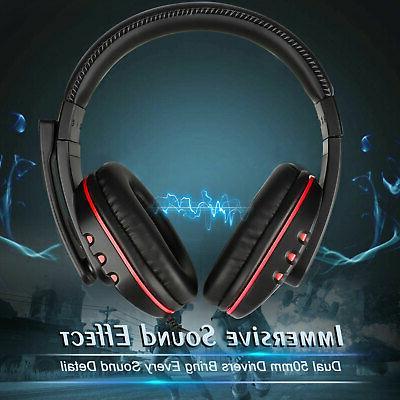 Pro Gamer Mic Gaming Headset Headphone PS4/Xbox One/PC