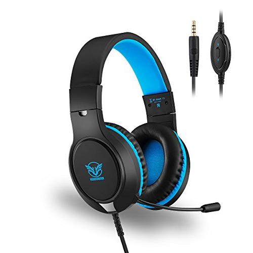 professional 35mm playstation game headset over ear stereo h