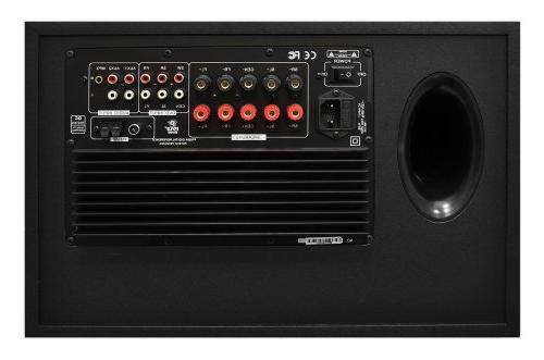 5.1 System Theater Stereo Receiver Set Built-in Subwoofer and FM Includes RCA