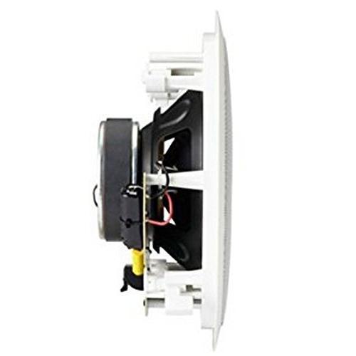 "Polk Audio Premium In-Ceiling 8"" Speakers, Set 2 Perfect Damp Humid Indoor/Outdoor Bath, Kitchen, Porches"