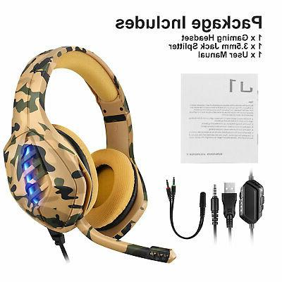 Gaming Adjustable Headphone for PS4/Xbox One