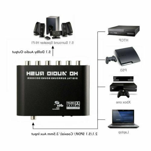Rush Decoder Analog Converter To RCA Audio