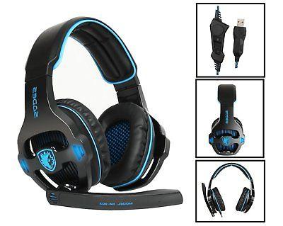 Sades USB Headset For Red