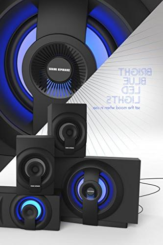 Sharper Theater 3.1 Subwoofer, Streaming Any Blue Light The