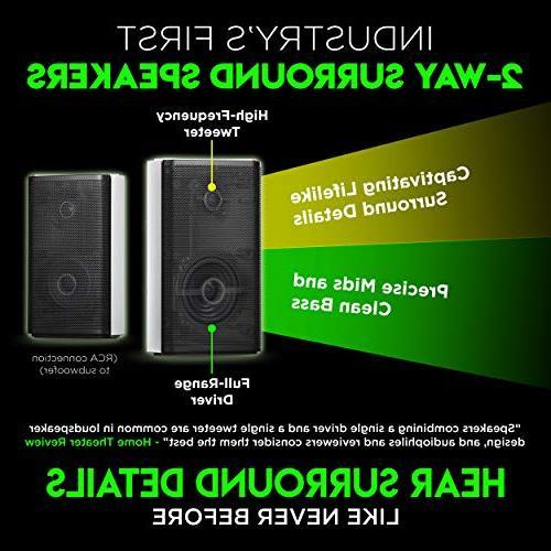 """Nakamichi DTS:X 600W 45-Inch Bar 8"""" & 2-Way Rear"""