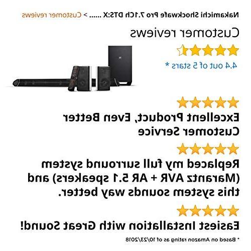 """Nakamichi Pro DTS:X Bar 8"""" & Rear Speakers"""