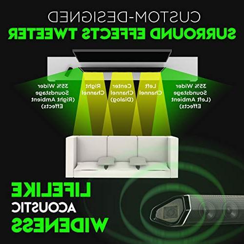 "Nakamichi Shockwafe Pro DTS:X 45-Inch Sound Bar 8"" & Speakers"