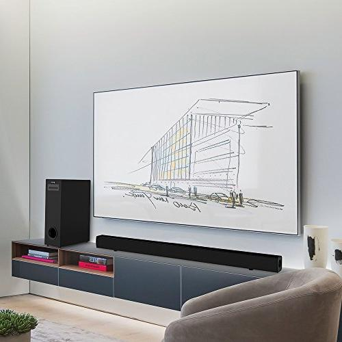 Sound Bar Subwoofer, Meidong Soundbar with Wired and Bars TV【Home Surround System, Channel Watt Wall Mountable, Remote Control】