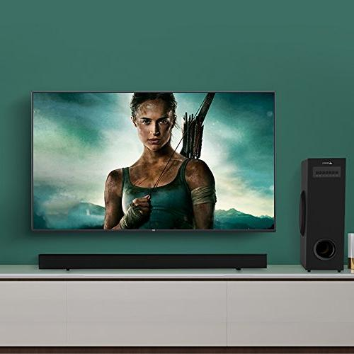 Sound Bar with Meidong Soundbar with Surround System, 2.1 Channel 72 Wall Control】