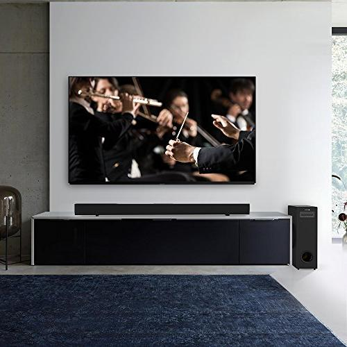 Sound Bar Meidong Soundbar with Sub Wired Wireless Bars Theater Surround Wall Mountable, Remote Control】
