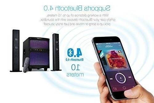 """LuguLake TV Sound Bar Speaker with 8"""" Subwoofer Bluetooth FM"""