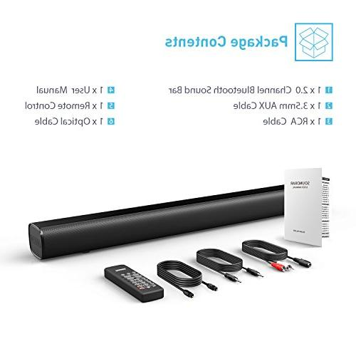 Sound Wired Wireless Audio for Theatre 50 AUX/Optical/USB/BT Input