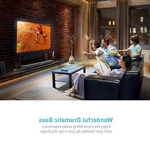 Sound Bar, Wireless SoundBar Bluetooth Audio Speakers for 29.5-Inches 2.0 Theatre 50 AUX/Optical/USB/BT Input Modes