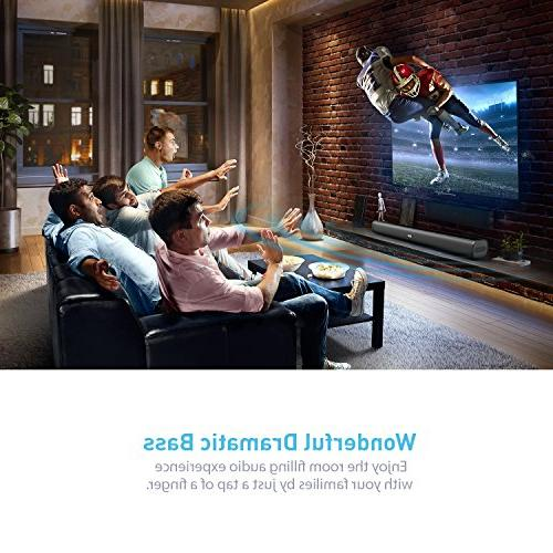 Sound Wired and Wireless SoundBar Audio Speakers TV, 29.5-Inches Theatre System 50 Watts Input Modes