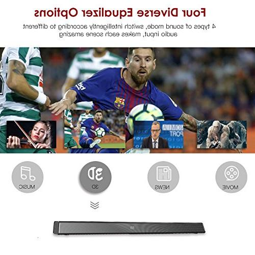 Sound ABOX Soundbar for TV 34 120W 2.1 Channel Speaker, Wireless Wired 4.2 Sound Bars, Home Theater Sound, Control, Wall Mountable