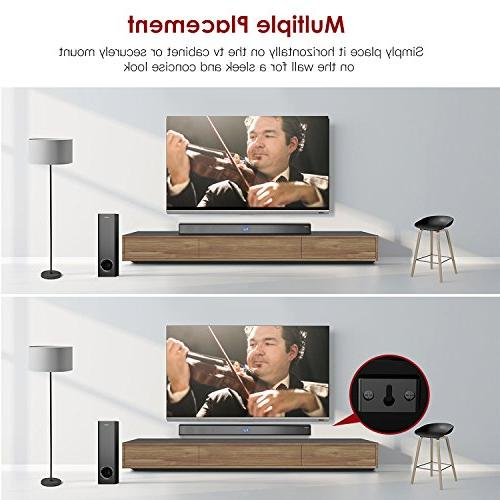 Sound Subwoofer, ABOX 34 Channel Speaker, Wireless & Wired Bluetooth 4.2 Sound Bars, Theater Sound, and Remote Control,