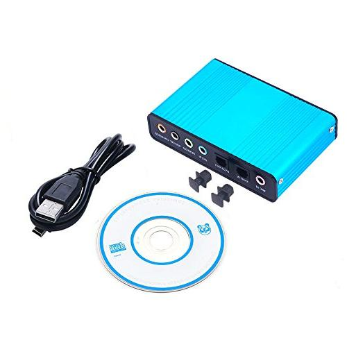 Sound Card,Ebetter Channel 5.1 Surround Audio f Optical Audio for PC Laptop Compatible