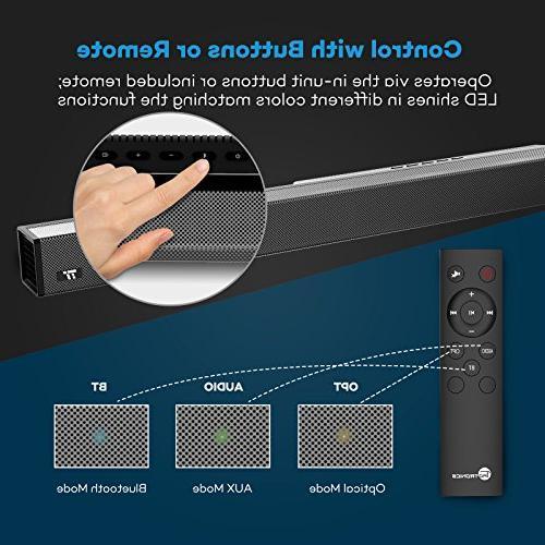 Soundbar, 4 Strong Bar Wired Wireless Bluetooth Audio TV