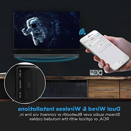 Soundbar, Strong TaoTronics Sound Bar Wireless Bluetooth Audio Speakers for TV