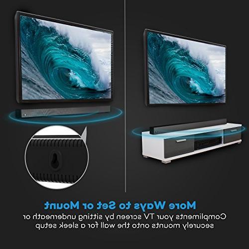 Soundbar, 36-Inch Strong Bar Wired Wireless Bluetooth Audio Speakers TV