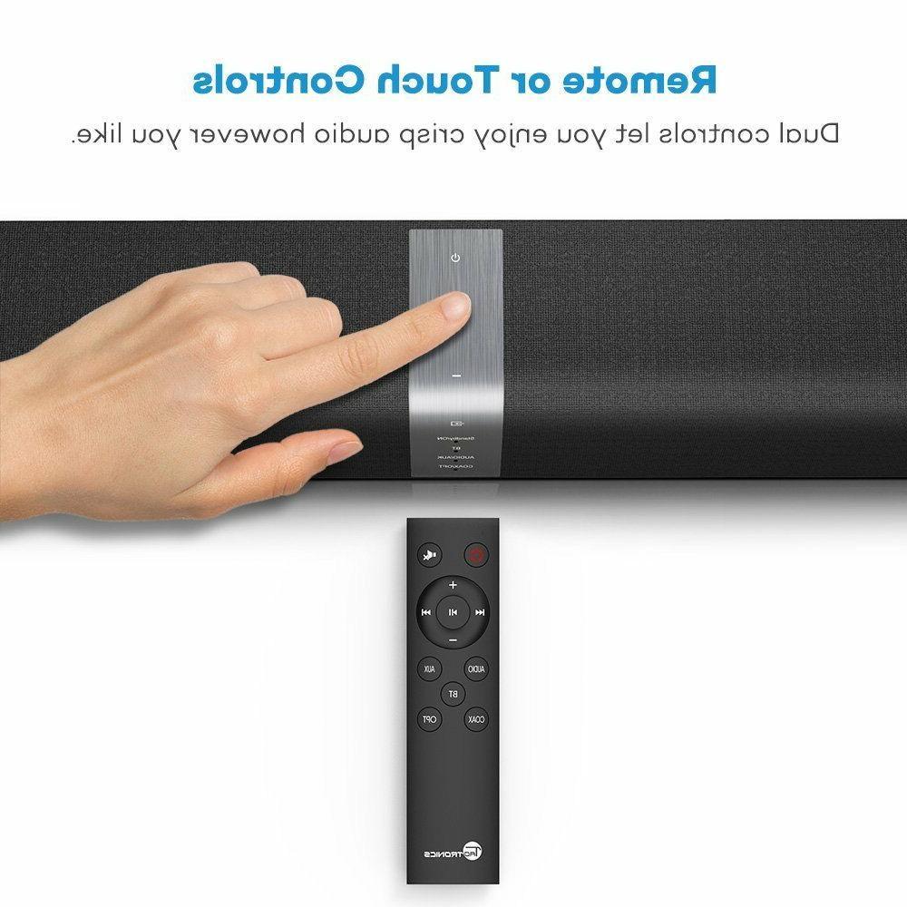 Soundbar, TaoTronics Wired and Wireless Audio (34-Inch...