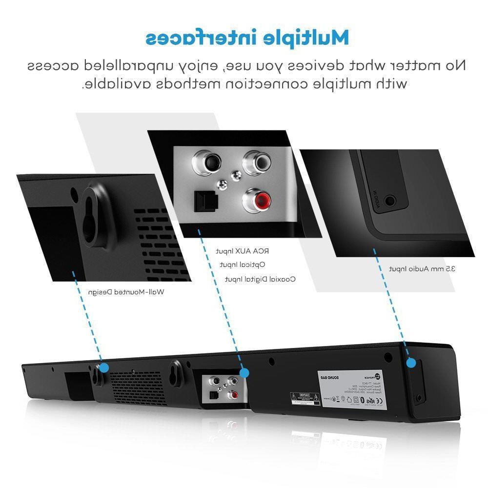 Soundbar, TaoTronics Sound Wired Audio (34-Inch...