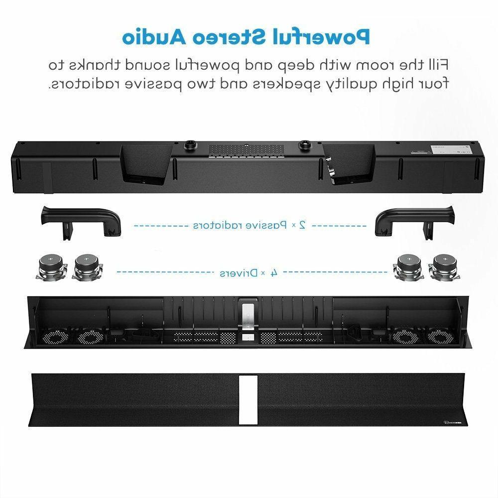 soundbar sound bar wired and wireless bluetooth