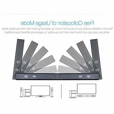 LuguLake Soundbar, 2.1 Channel Bluetooth,