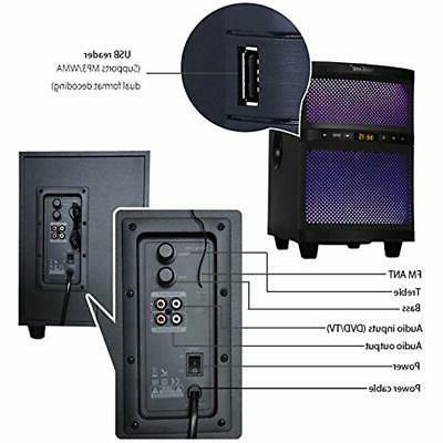 LuguLake Soundbar, 2.1 TV System Bluetooth,