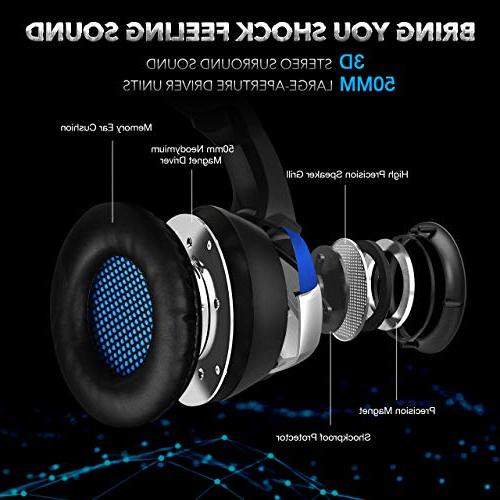 ONIKUMA Stereo for PS4, PC, Enhanced 7.1 Sound, Noise Mic Earmuffs, Control for Nintendo Laptop