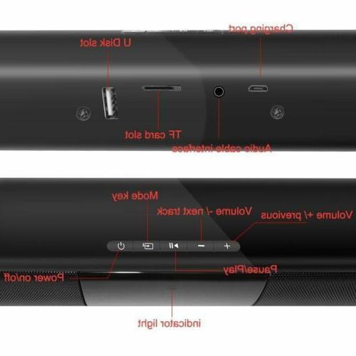 Surround Sound Bar 4 Speaker Wireless BT Subwoofer