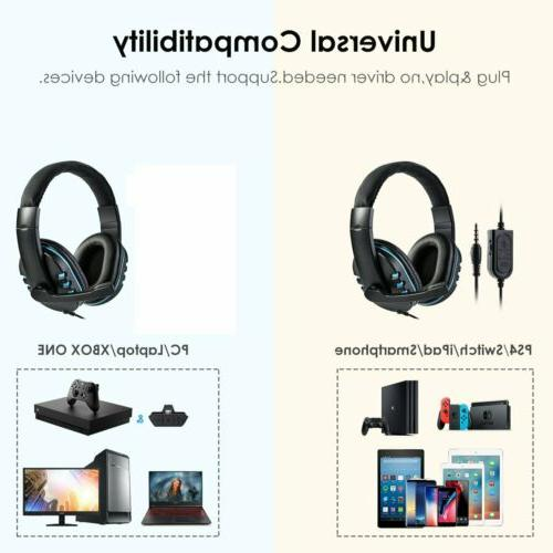 Surround Sound Gaming Headphones Headsets For PS4 Xbox US