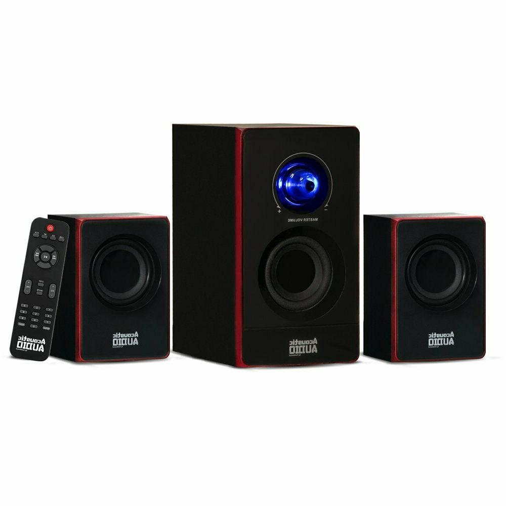 Surround Sound System Computer Speakers PC Wireless TV Home