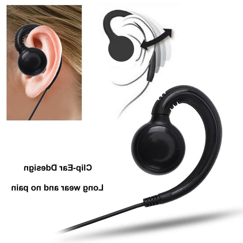 2Pin Swivel Earpiece Headset with Microphone and PTT for Mot