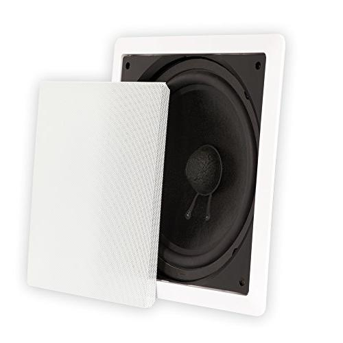 """Theater Solutions TS1000 10"""" Wall Subwoofers 2 Sub Set"""