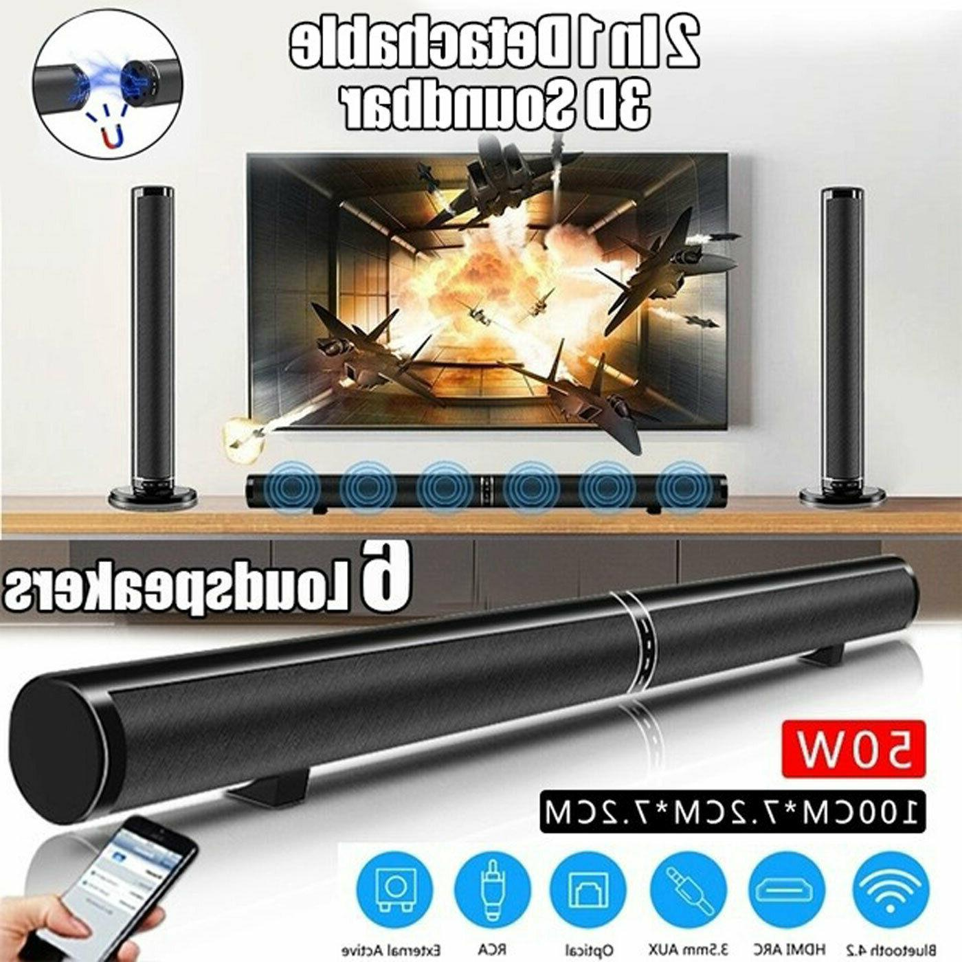 TV Home Theater SOUND BAR Stereo 3D Surround Sound Bluetooth