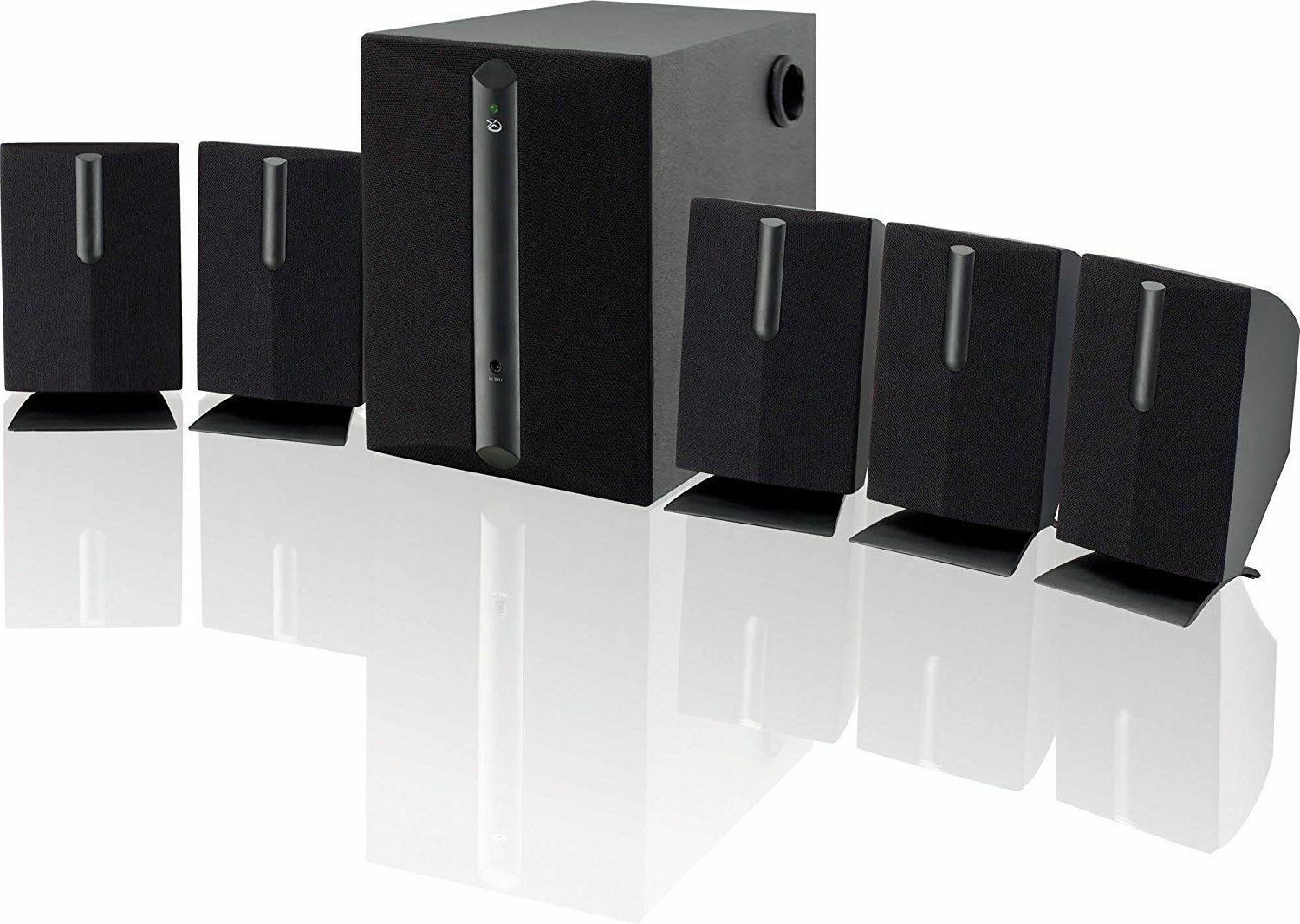 Tv Home Theater Speaker System Surround Sound Bar Set 800W 5