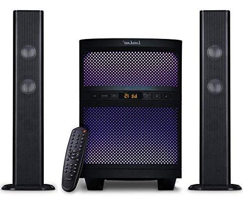 LuguLake 140 watt TV System, Home Theater Speaker 36 Soundbar w/subwoofer-OPT, COA, Connection
