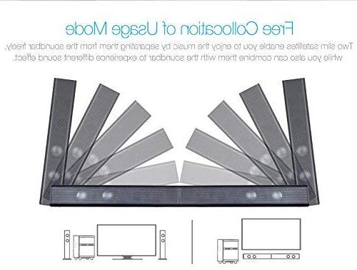 LuguLake 140 watt TV System, Home Theater Stereo Speaker 36 Inch w/subwoofer-OPT, COA, AUX, Connection