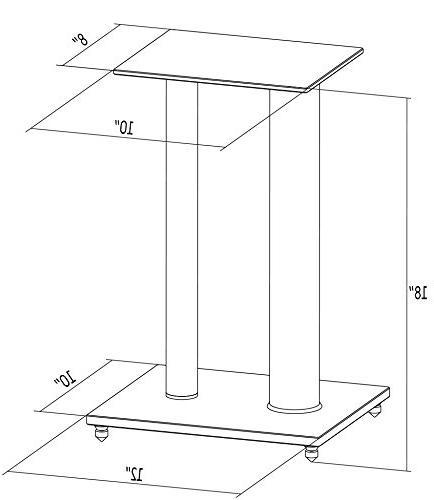 VIVO Premium Universal Speaker Stands Dual for Surround Sound Book Shelf Speakers