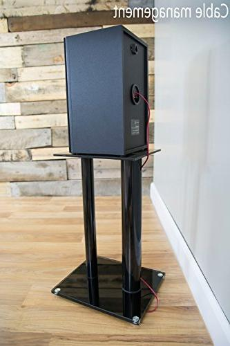 VIVO Speaker Stands for Surround Sound & Book