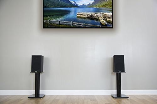 VIVO Premium Universal Speaker Stands for Book Shelf