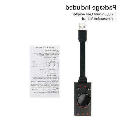 USB Surround Card 3.5mm Earphone Mic