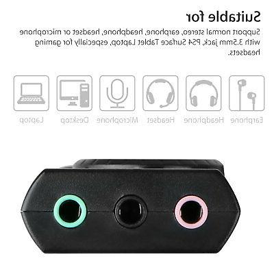 USB Card Audio 3.5mm Earphone Mic