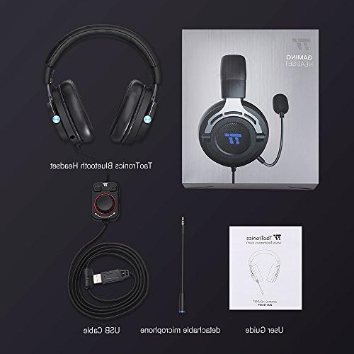 TaoTronics Gaming Headset, Over Ear with True Surround Sound for and Mac