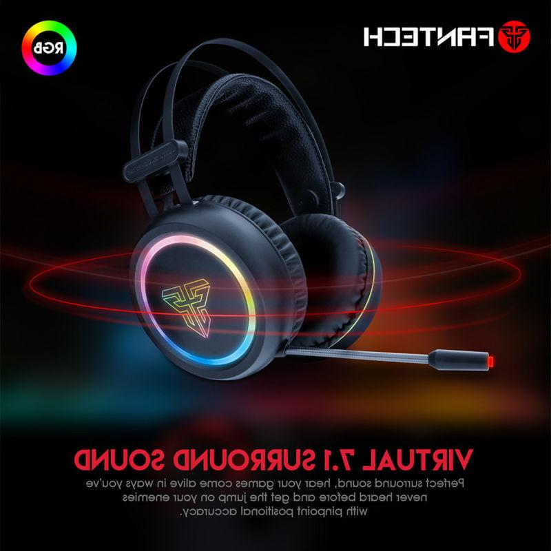 Virtual Channel Surround Sound Gaming Earphone Stereo LED He
