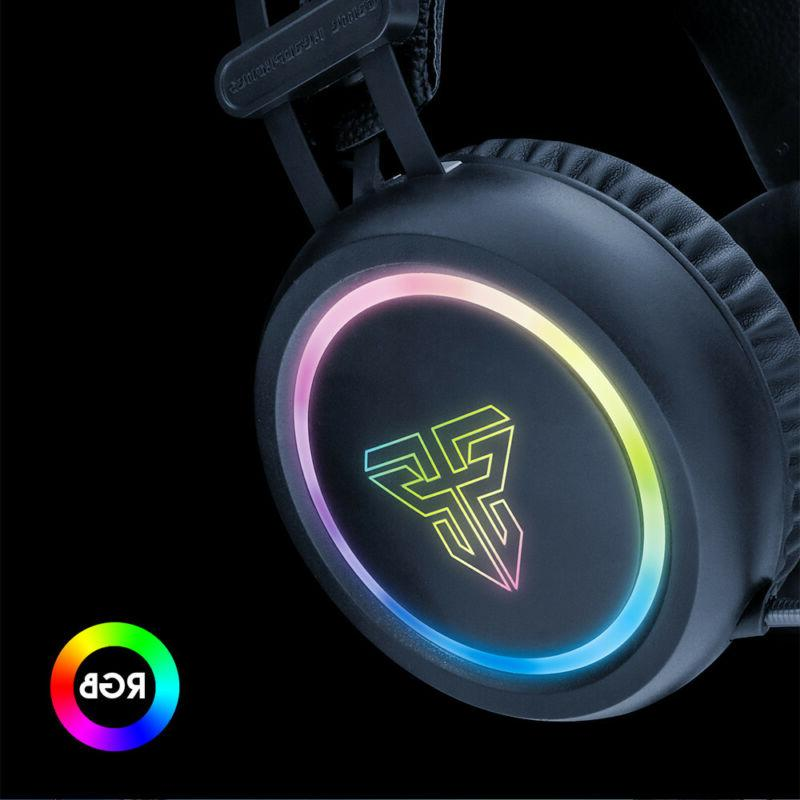 Virtual 7.1 LED Headphones with